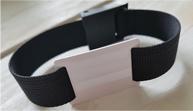 Nylon RFID polsbandje met epoxy slider en gesp